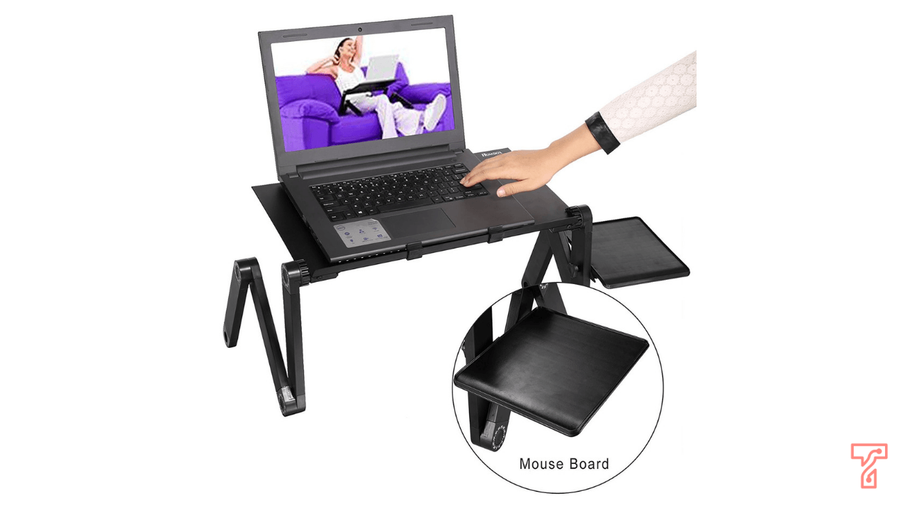 laptop stand with external mouse pad
